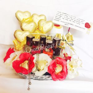 Chocolate and Flower Basket