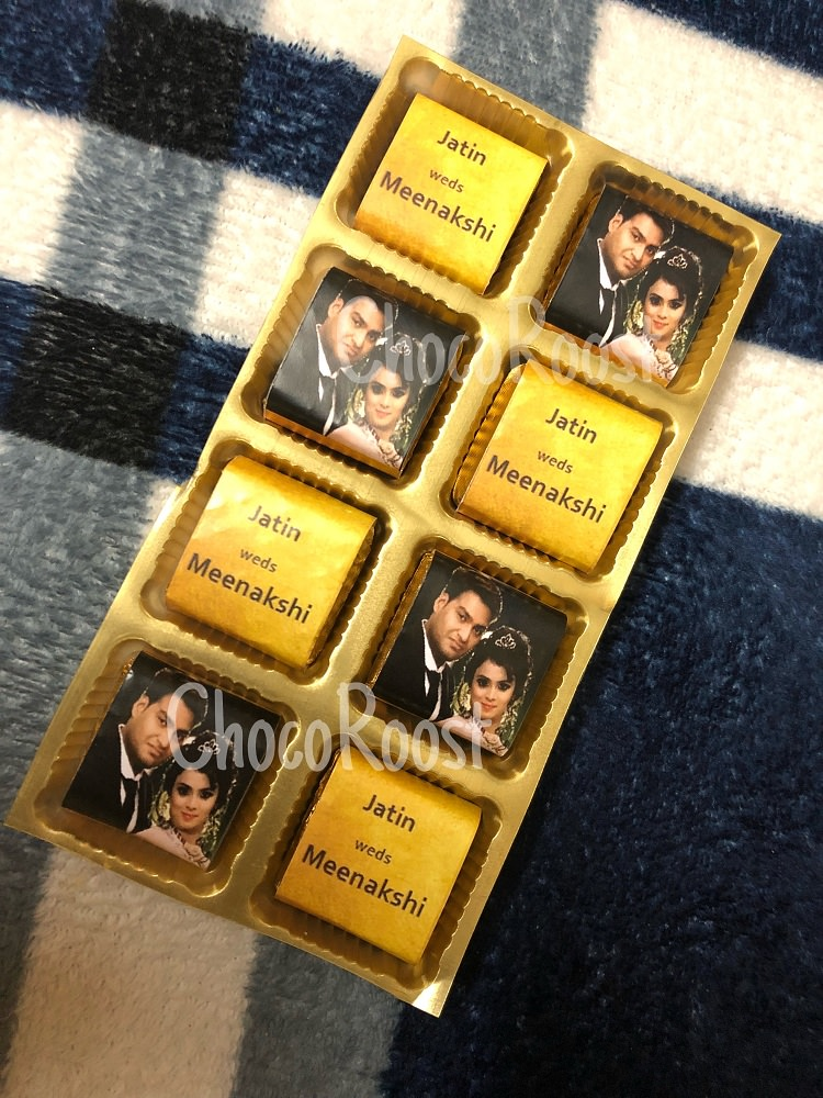 Wedding Chocolate Box with Photo