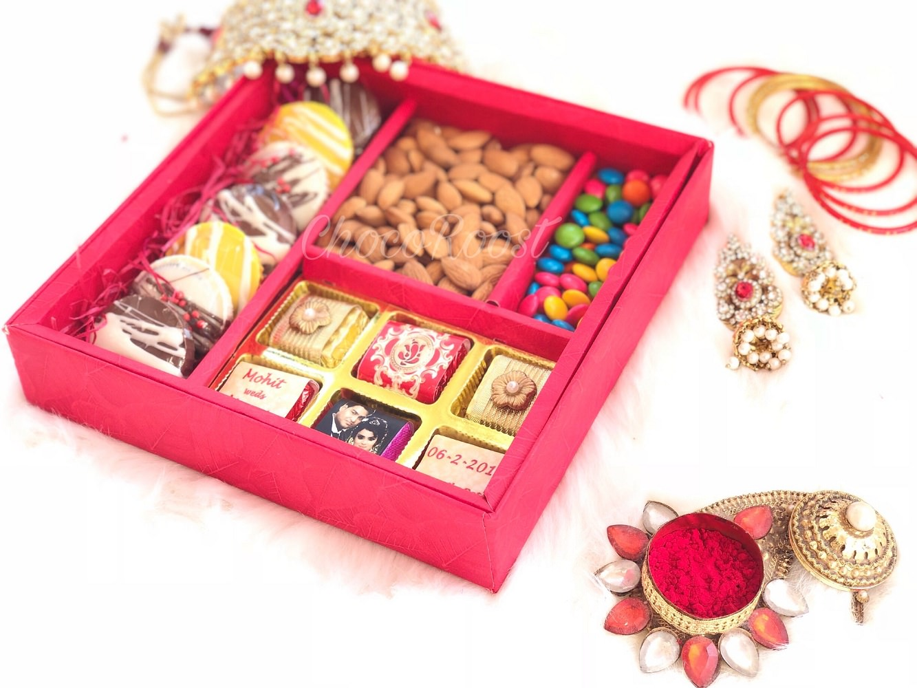 Wedding Gift Box with Almonds